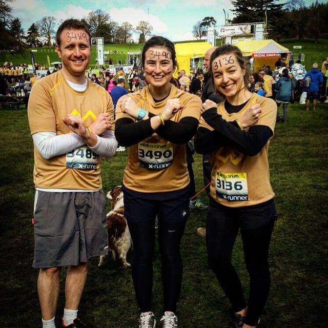 Greystone Team - Wild Mud Run - L to R Simon, Monica, Clare