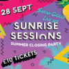 Summer Send off as Sunrise Sessions Returns