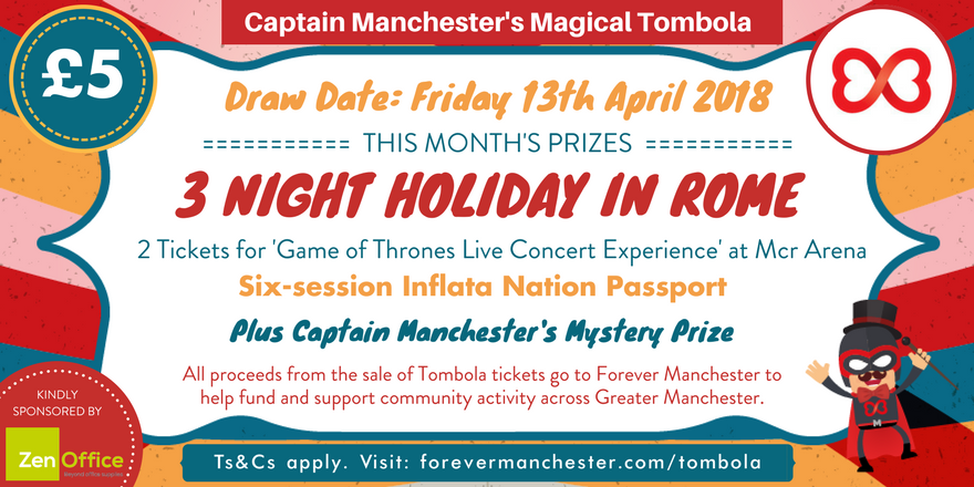 captain manchester s magical tombola friday 13th april forever