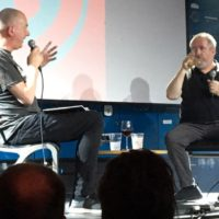 VIDEO: Dave Haslam close up with Buzzcock's Pete Shelley