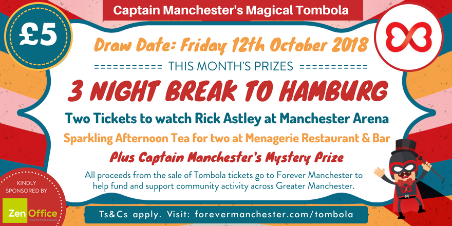 captain manchester s magical tombola 12th october forever manchester