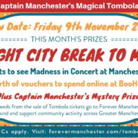Captain Manchester's Magical Tombola – 9th November