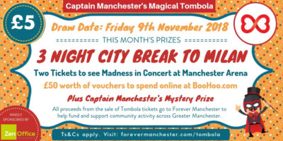 Captain Manchester's Magical Tombola – 9th November