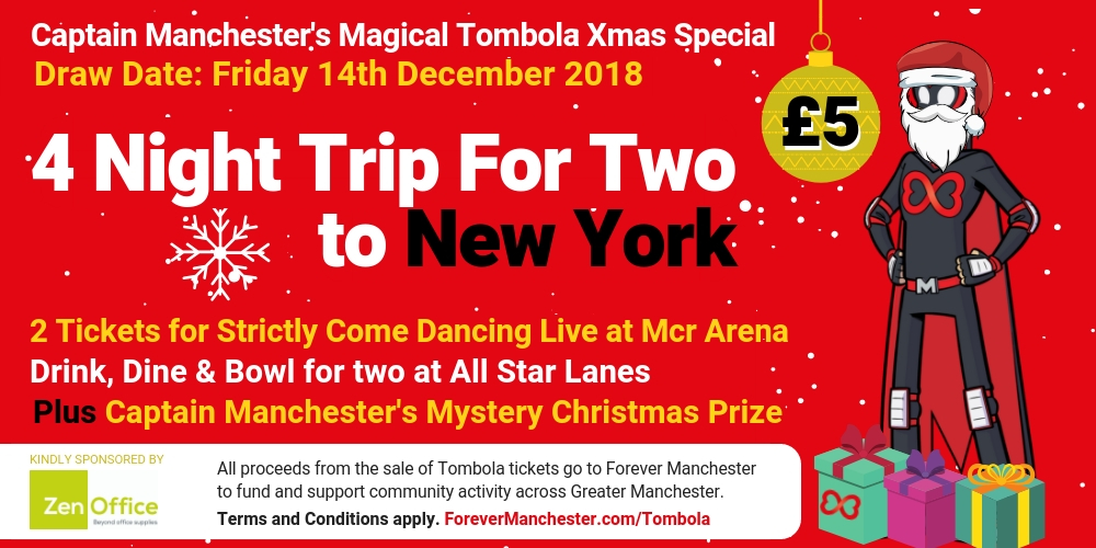 captain manchester s magical tombola 14th december forever