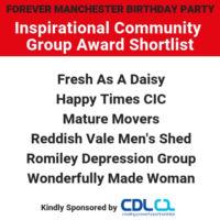 Inspirational Community Group Award – Shortlist