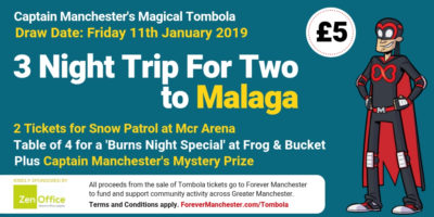 Captain Manchester's Magical Tombola – 11th January