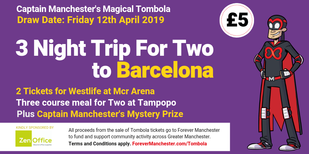 Captain Manchester's Magical Tombola – 12th April 2019 | Forever