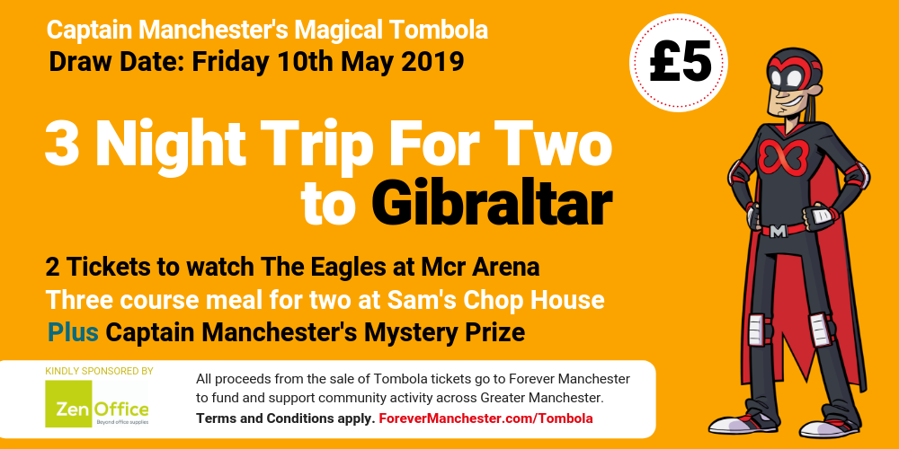 Captain Manchester's Magical Tombola – 10th May 2019 | Forever
