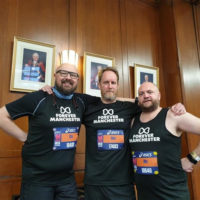Nic, Stu and Adam raised over £2,000 for Forever Manchester.