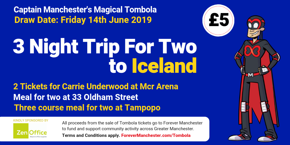 Captain Manchester's Magical Tombola – 14th June 2019 | Forever