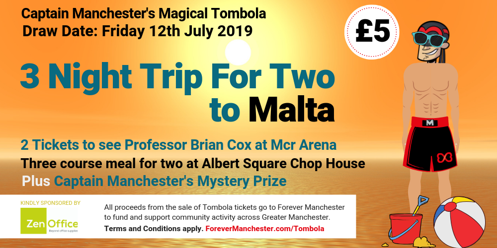 Captain Manchester's Magical Tombola – 12th July 2019 | Forever