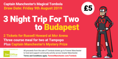Captain Manchester's Magical Tombola – 9th August 2019