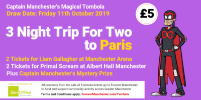 Captain Manchester's Magical Tombola – 11th October 2019