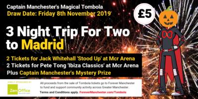 Captain Manchester's Magical Tombola – 8th November 2019
