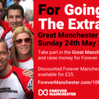 Discounted places available for Great Manchester 10k Run.