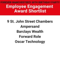 Employee Engagement Award 2020 – Shortlist