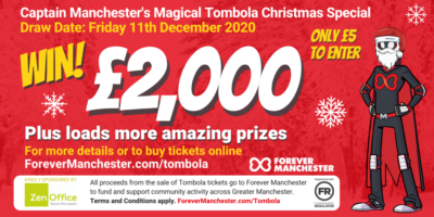 Captain Manchester's Magical Christmas Cash & Prize Tombola – 11th December 2020
