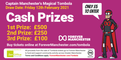Captain Manchester's Magical Tombola – Friday 12th February 2021