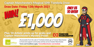 Captain Manchester's Magical 50th Tombola Draw – Friday 12th March 2021