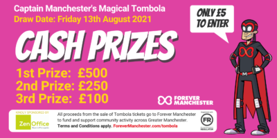 Captain Manchester's Magical Tombola – Friday 13th August 2021