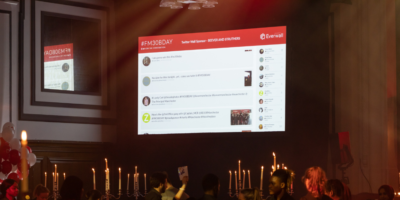 Beever and Struthers sponsor the Twitter Wall at Forever Manchester's Birthday Party 2022