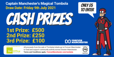 Captain Manchester's Magical Tombola – Friday 9th July 2021