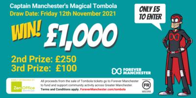 Captain Manchester's Magical Tombola – Friday 12th November 2021