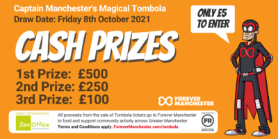Captain Manchester's Magical Tombola – Friday 8th October 2021